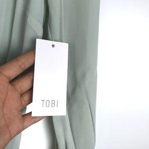 Tobi Dresses - Tobi Cherish Me Long Sleeve Maxi Dress Sage NWT M
